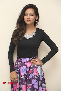 Actress Sana Pictures in Floral Skirt at Neerajanam Audio Launch  0015.JPG