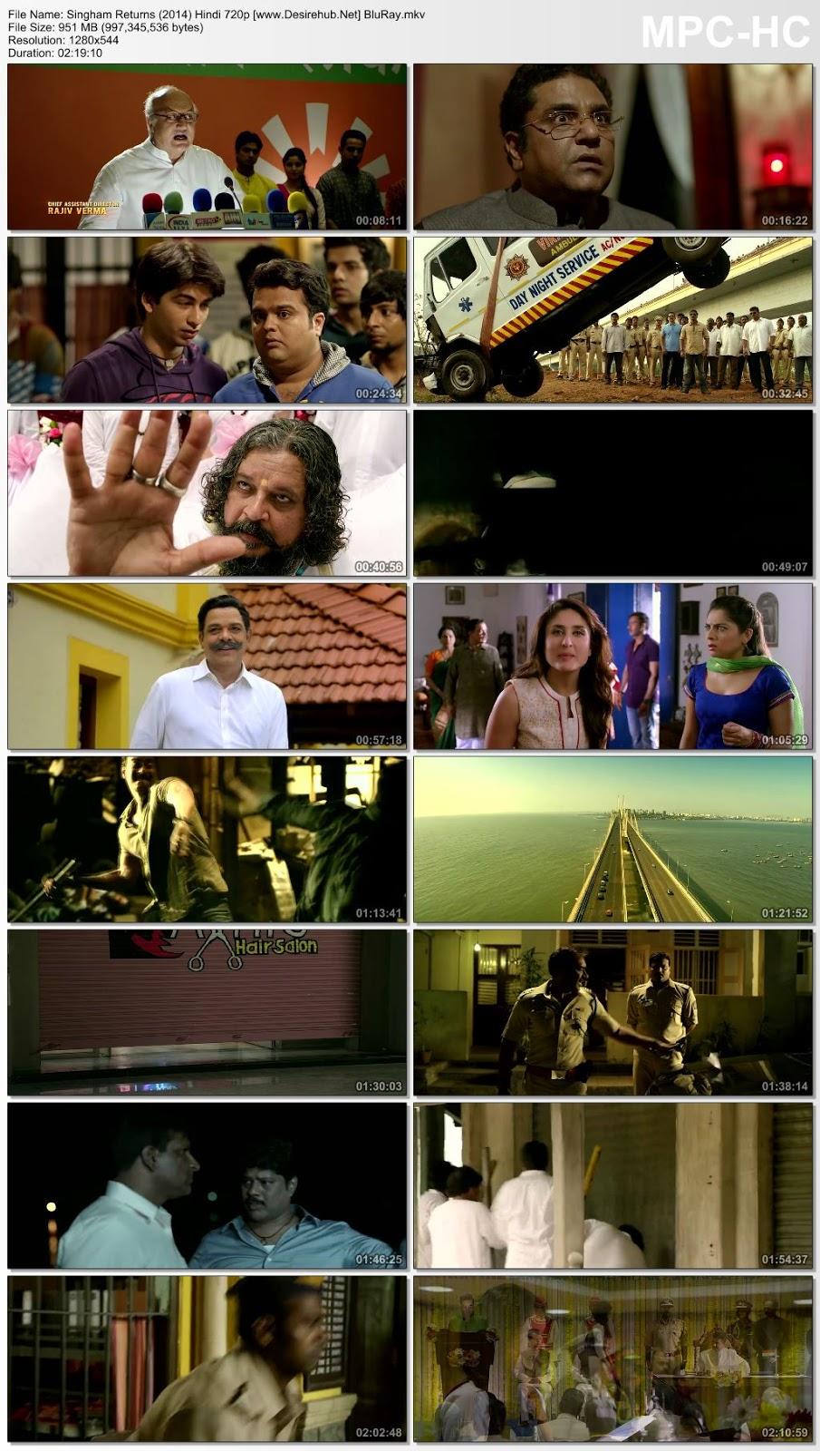 Singham Returns (2014) Hindi 720p BluRay – 950MB Desirehub