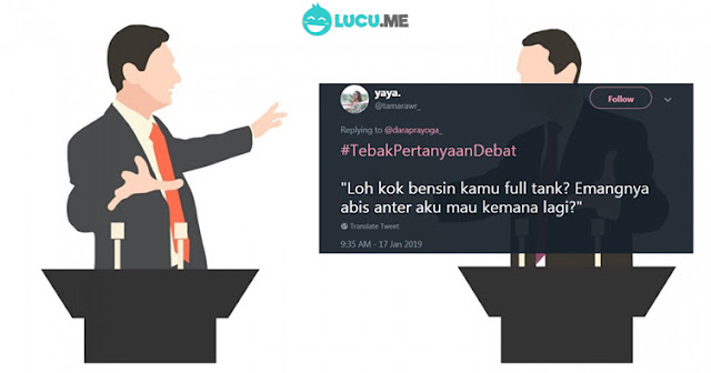 10 Meme 'Pertanyaan Debat Capres' yang Lucunya Receh Abis