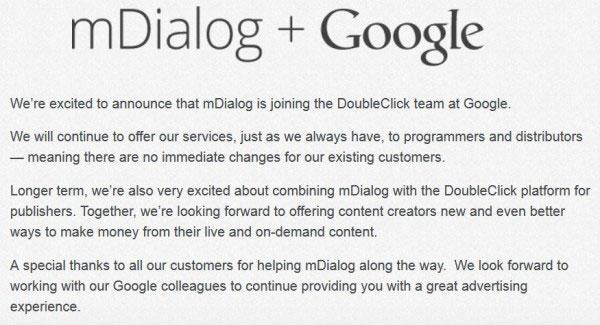 Google Akuisisi mDialog