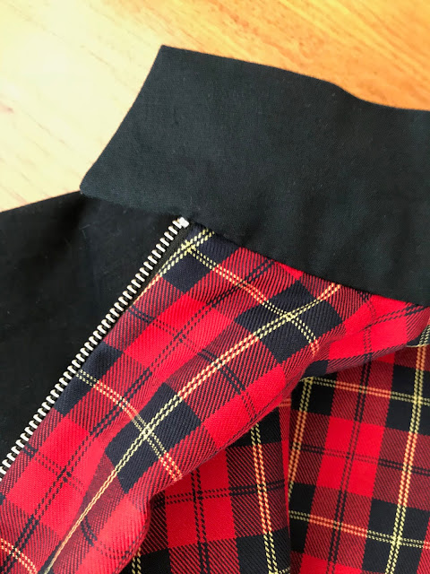 Diary of a Chain Stitcher: McCalls 7637 Tartan Lined Mens Harrington Jacket