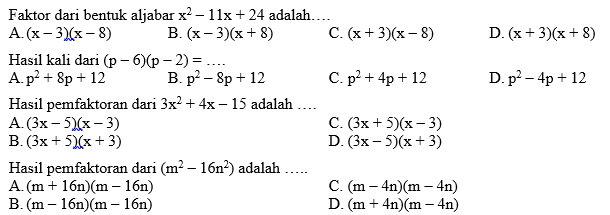 Kumpulan Soal Matematika Smp Kelas 8 Semester Ganjil Didno76 Com