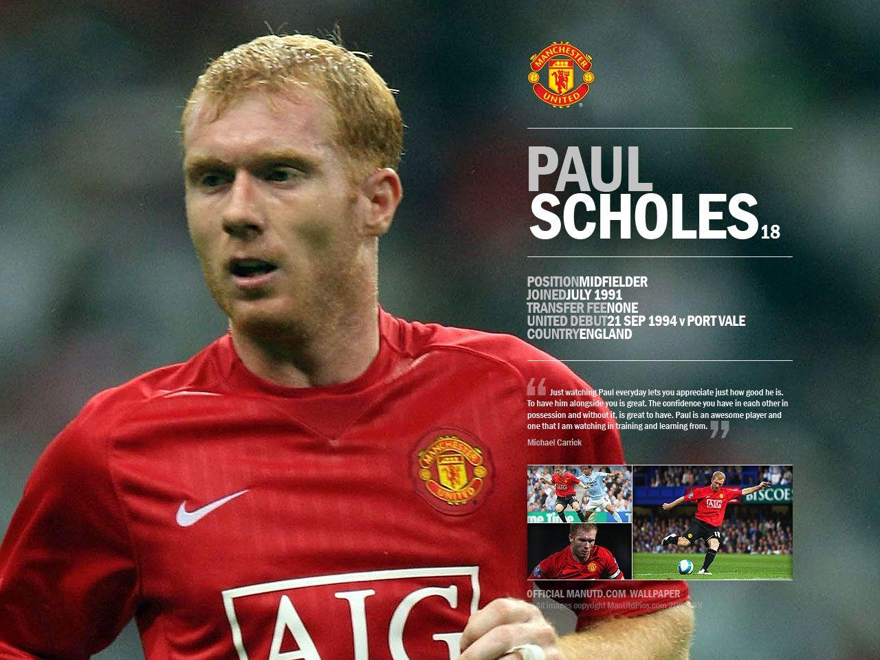 PLN Blog Spot Man United Paul Scholes Set To Make 500 Marking