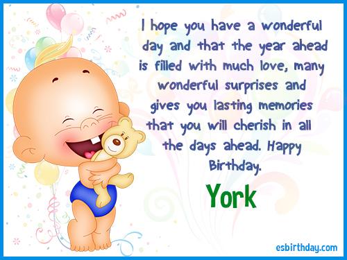 York Happy birthday