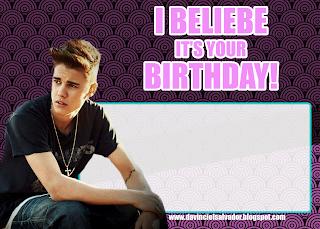 Justin Bieber Invitation Card Invitacion Gratis Belieber Gratis