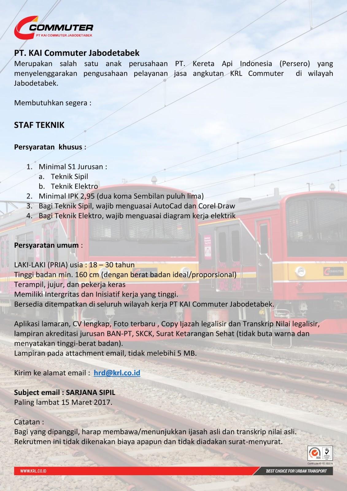 loker kai commuter staff teknik 2017