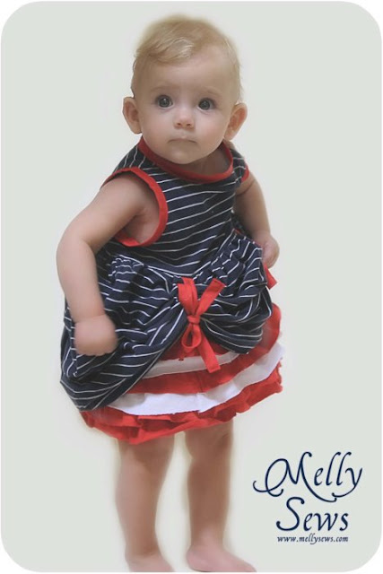 4th of July Baby Dress Tutorial - Melly Sews