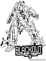 Transformer Black Out Coloring Pages