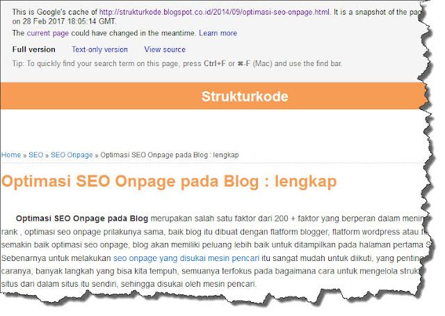 cached artikel blog