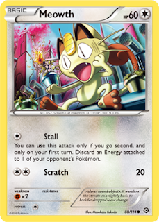 Meowth Steam Siege Pokemon Card