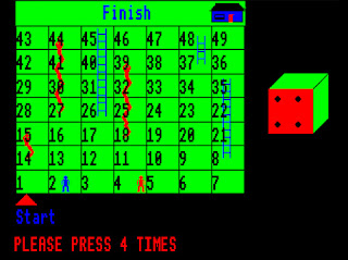 MARDIS 1980s BBC Micro special needs switch accessible snakes and ladders.