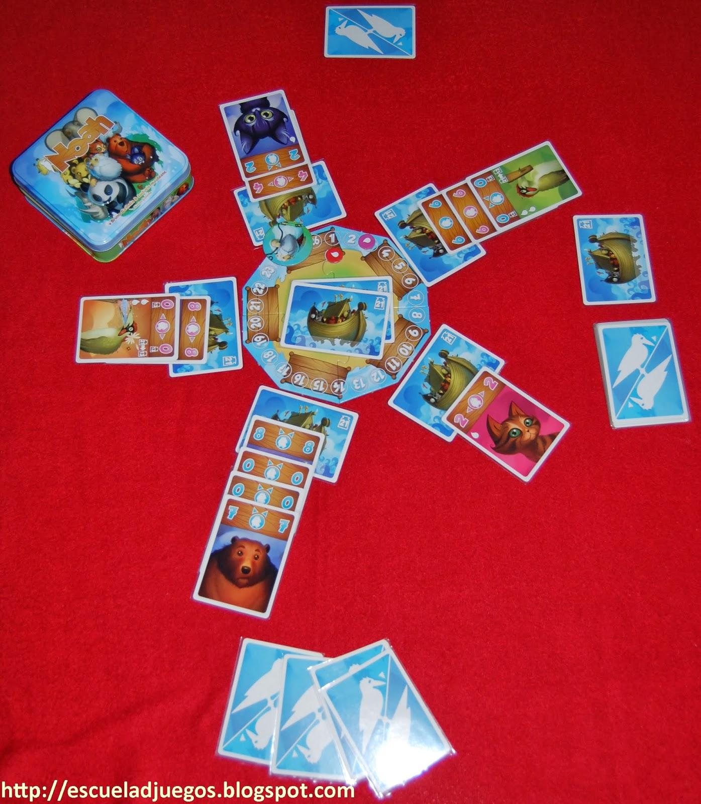 Noah, juego de cartas de Bruno Cathala y Ludovic Maublanc, para hasta 5 jugadores, editado por Bombyx y distribuido por Asmodee