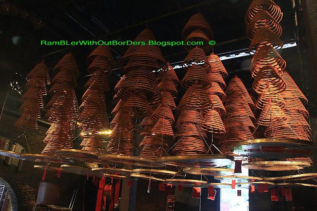 incense or joss coils, Tin Hau Temple, Aberdeen, Hong Kong