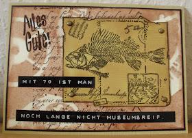 Mamapias Stempelecke Zum 70 Geburtstag Karte Und Bierkur Gedicht