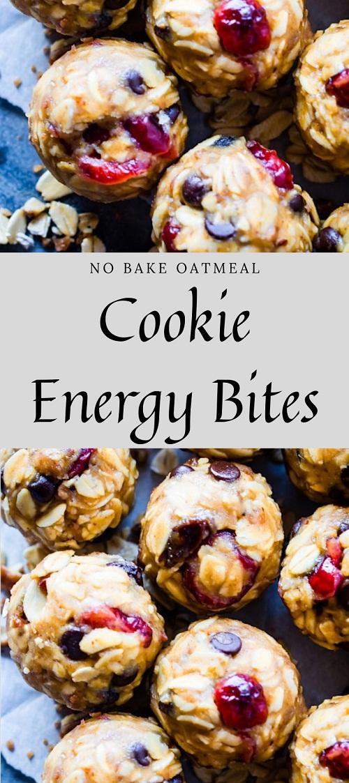 No Bake Oatmeal Cookie Energy Bites (Gluten Free)