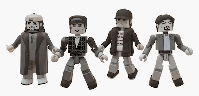 Clerks 20th Anniversary B&W Edition Minimates 4 Pack - Dante, Randal, Jay and Silent Bob