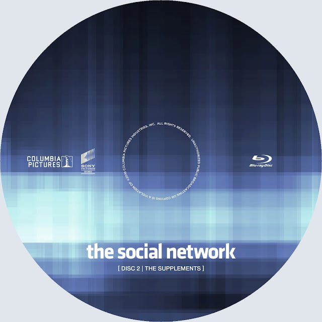 The Social Network Disc 2 Bluray Label
