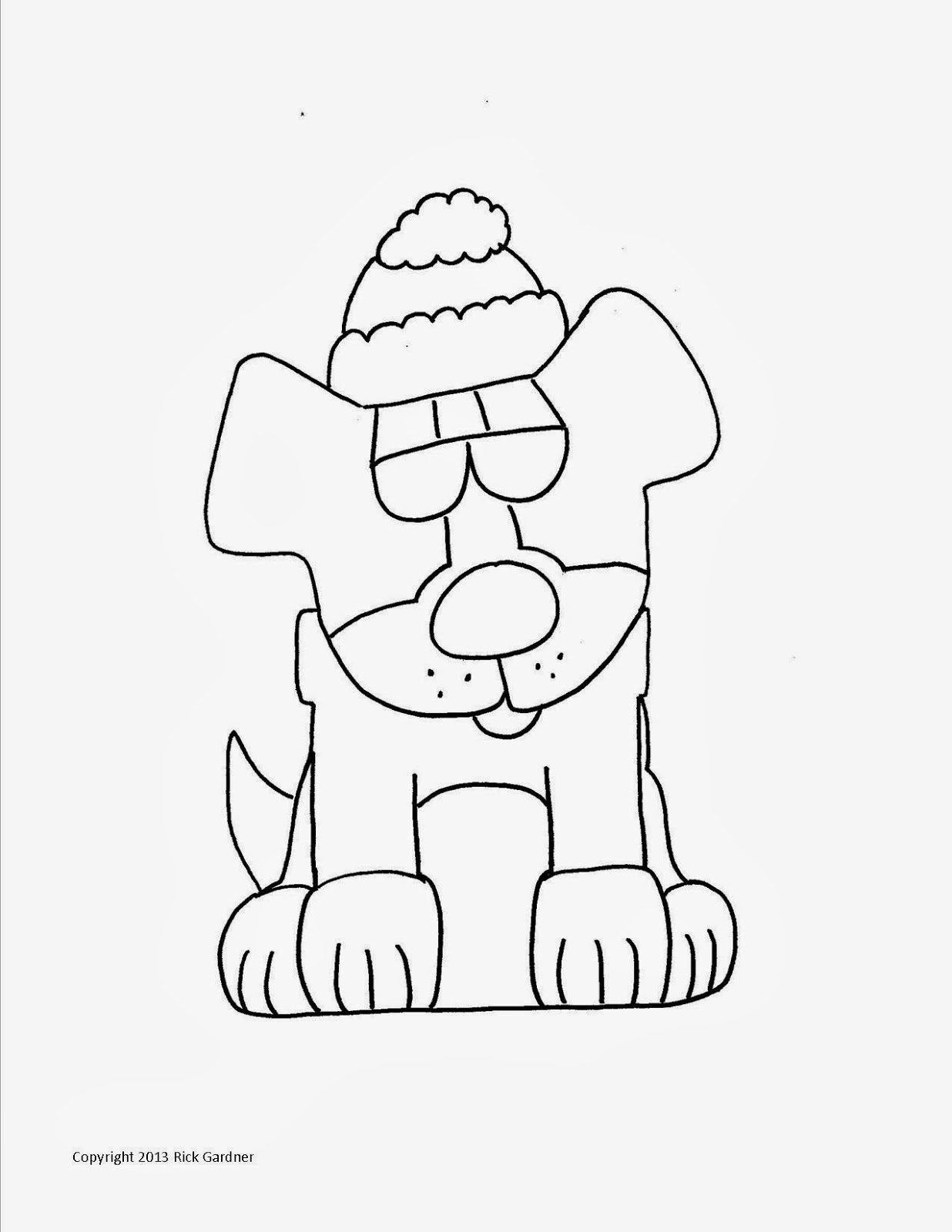 Apex Lazy Dog Blog: Advent Lazy Dog Coloring Page #2