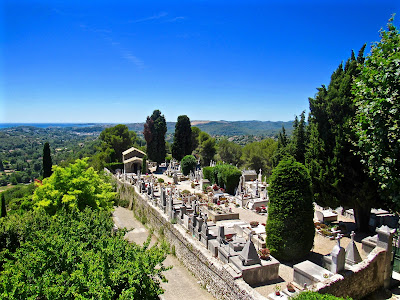 Cemetery in St. Paul de Vence, France.