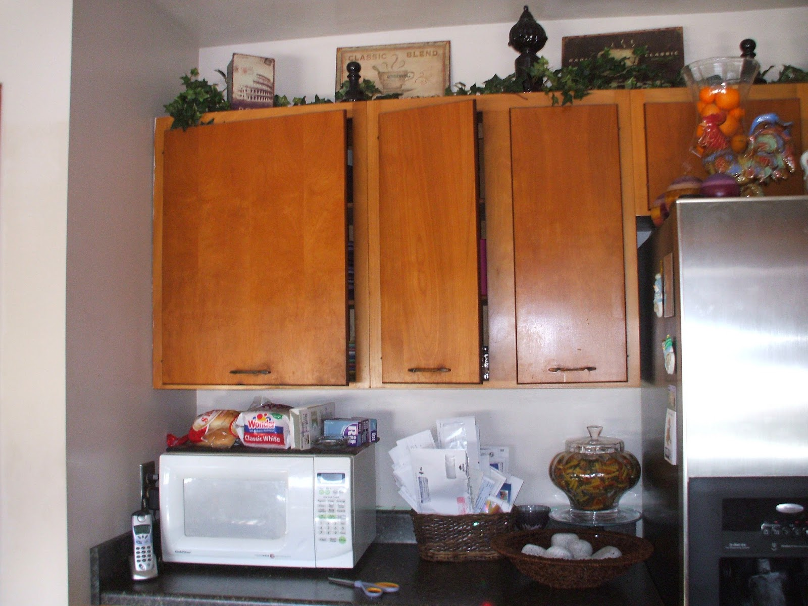 How To Update Kitchen Cabinets Kitchen Update Mirror And Glass Added To Glassware