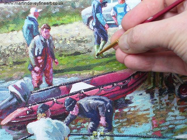 M P Davey  artist progress dingy art