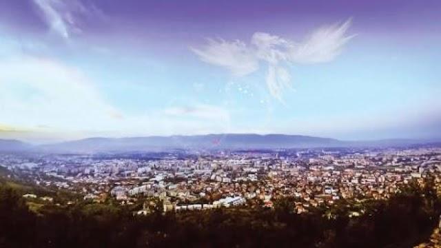 Bild des Tages - Engel über Skopje