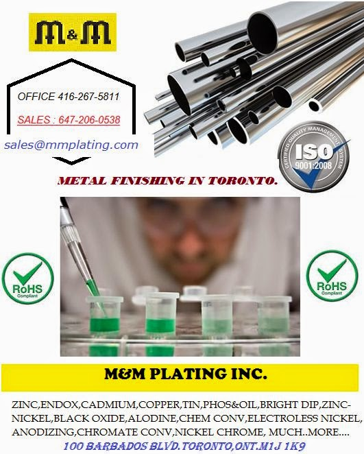 Toronto High Phos Electroless Nickel Plating Service In: Toronto