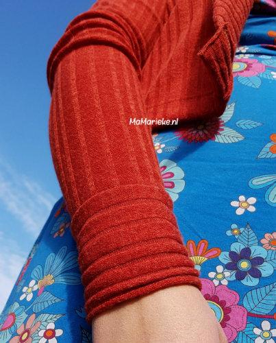 spelen met de mouwen Cozy wrap cardigan Halla patterns