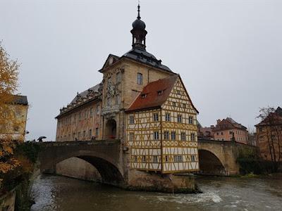 Antiguo Ayuntamiento de Bamberg desde el puente