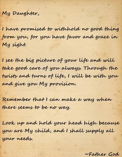 letter to daughter a letter from god www imgkid the image kid 23192