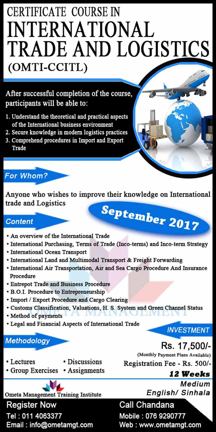 Ometa Management Certificate Course In International Trade
