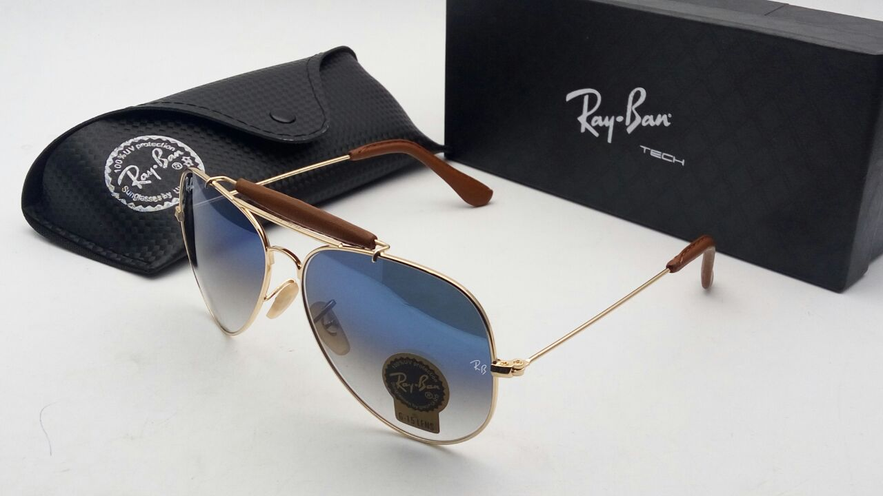 79fb2c89a5 RB3422Q Leather Bar Caravan Series Ray Ban Sunglasses Unisex 999. Price 999