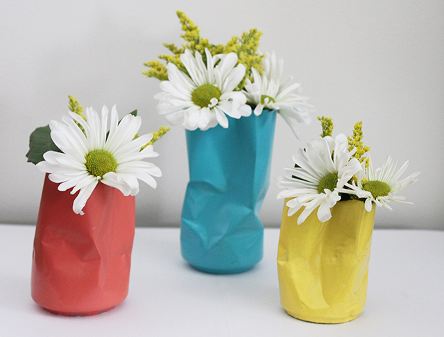 Diy Tin Can Vases Oh So Lovely Blog