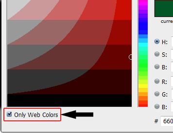 خاصية Only web Colors