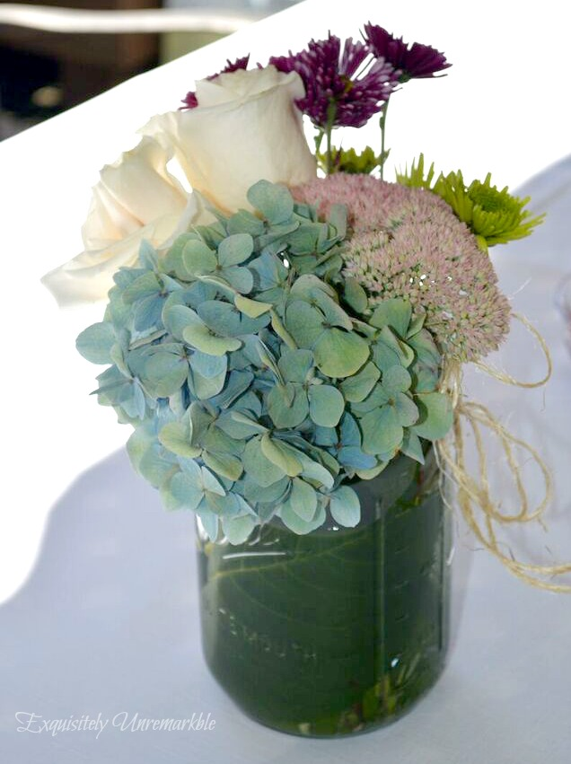 DIY Mason Jar Floral Arrangements