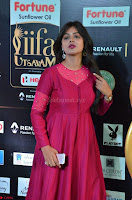 Monal Gajjar in Maroon Gown Stunning Cute Beauty at IIFA Utsavam Awards 2017 036.JPG