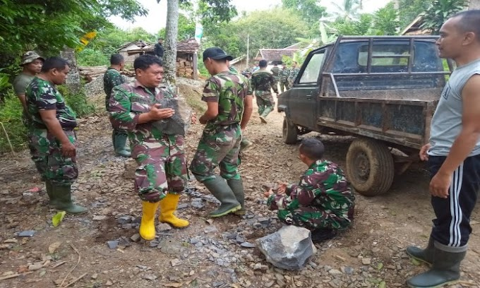 Satgas TMMD Kodim 0601/Pandelang Wujudkan Harapan Warga  Desa Mekarsari