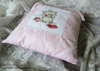 подушка на завязках