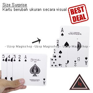 Jual alat sulap Size Surprise kartu berubah ukuran