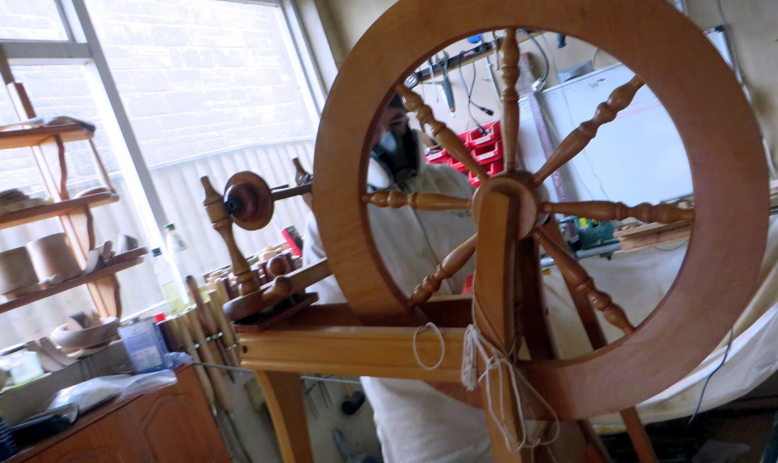 ... Wheel Deserved A Really Good Make Over And A Bit Of Pampering To Start  The New Year Of Spinning  So A Visit To Wright Turned Workshop (aka  Skipper).