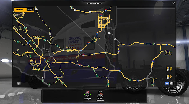 American Truck Simulator COAST TO COAST MAP V1.6 for ATS Map Download MODs