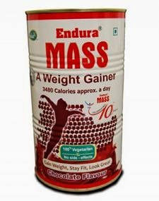 Endura Mass Weight Gainer (Choclate)-500Grms worth Rs.450 for Rs.288 Only