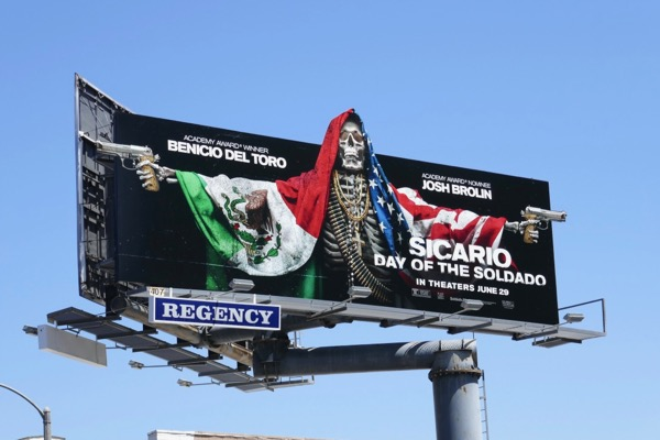 Sicario Day of the Soldado movie billboard