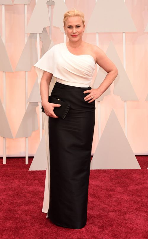 Patricia Arquette in Rosetta Getty at the Academy Awards 2015