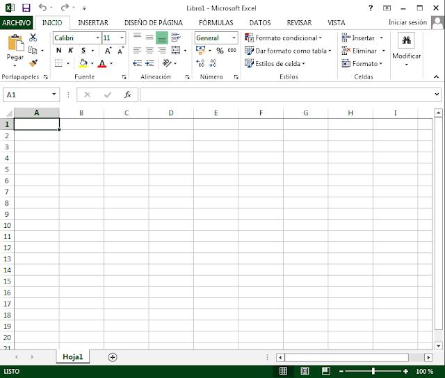 Ventana de Excel