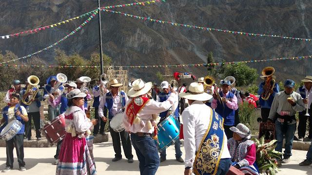 band of Malata plays- fiesta in the tiny town of Malata- Colca Canyon