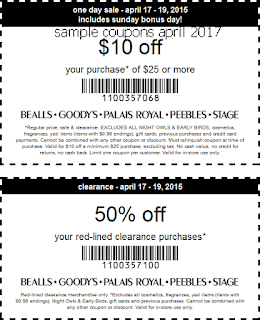 Bealls coupons april 2017