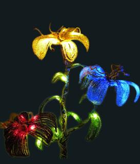 Мастер-класс по созданию подсветки цветов и деревьев из бисера