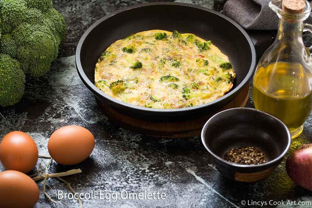 Broccoli omelette recipe- stove top