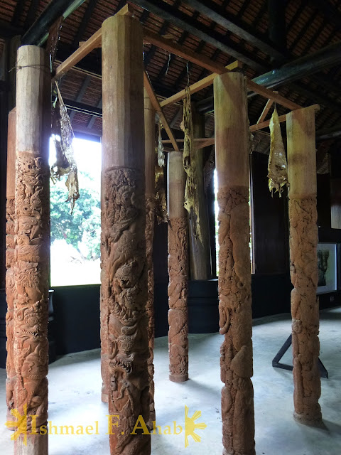 Posts with dried skin in Black House, Chiang Rai, Thailand